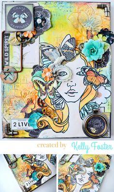Bloom Girl Canvas - Scrapbook.com