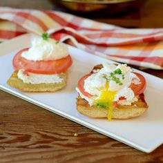 Goat cheese poached egg Sandwich