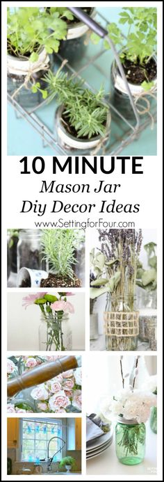 more mason jar decorating ideas! they really are so versatile!