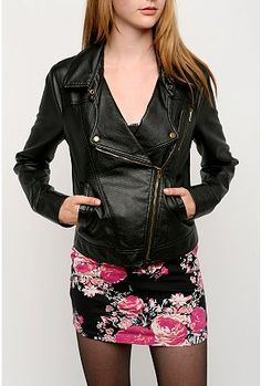 Leather..skirts..floral. love
