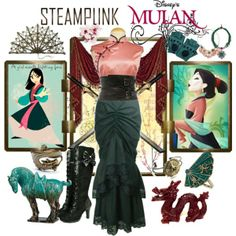 """Steampunk: Mulan"" by ghsdrummajor on Polyvore"