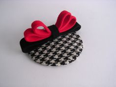 Wool houndstooth fascinator vintage style mini hat mad men on Etsy, £32.26