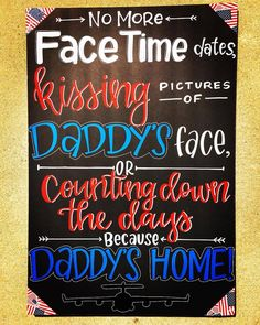 Welcome Home Signs For Military, Welcome Home Soldier, Welcome Home Daddy, Welcome Home Parties, Welcome Home Gifts, Homecoming Poster Ideas, Military Homecoming Signs, Military Signs, Navy Military