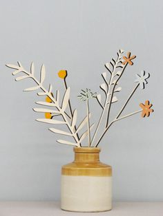 Sets of 5 Meadow Flower stems inspired by the Dorset countryside! NEW from www.annawiscombe.com
