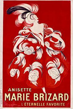 Anisette Marie Brizard l'éternelle favorite.1928. Affiche.  Art by Leonetto Cappiello.(1875-1942). Illustrateur.