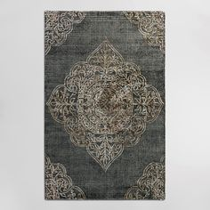 Handmade of wool in a subtly distressed charcoal hue, our exclusive area rug features a tufted pile with a raised medallion design that adds a unique dimension and texture. How To Install Pavers, Concrete Patio, Concrete Bags, Patio Tiles, Concrete Stairs, Rug World, Affordable Rugs, Tufted Bed, Framed Tv