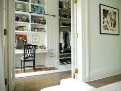 a closet as closets should be... another room as an extension of your bedroom.