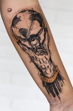 magical illustrative Atlas tattoo © tattoo artist Robson Carvalho 💕💕💕💕💕 girl tattoo Robson Carvalho Turns His Beautiful Drawings Into Magical Tattoos Dope Tattoos, Badass Tattoos, Forearm Tattoos, Unique Tattoos, Body Art Tattoos, Sleeve Tattoos, Warrior Tattoos, Tattoo Sketches, Tattoo Drawings