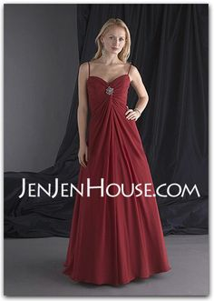 Mother of the Bride Dresses - $122.99 - A-Line/Princess Sweetheart Floor-Length Chiffon  Satin Mother of the Bride Dresses With Ruffle  Beading (008002223) http://jenjenhouse.com/A-line-Princess-Sweetheart-Floor-length-Chiffon--Satin-Mother-Of-The-Bride-Dresses-With-Ruffle--Beading-008002223-g2223