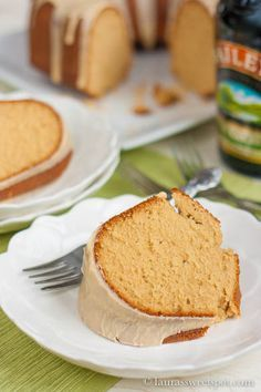 Irish Cream Pound Cake - just in time for St Patrick's Day!