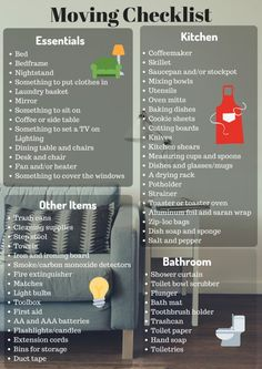 Favorite Checklists Here is the ultimate moving checklist to ensure you don't forget anything. Tips For Moving Out, Moving List, Moving House Tips, Moving Day, First Time Moving Out, Moving Hacks, New Apartment Checklist, First Apartment Essentials, Apartment Packing List