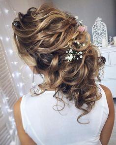 Long and Loose romantic wedding hairstyles | fabmood.com #bridalhair #weddinghairstyle #weddinghairstyles #longhair