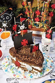 pastel de barco pirata ingredientes un panque rectangular de cinco