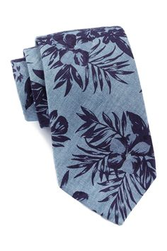 Floral Print Chambray Tie by Ben Sherman on @nordstrom_rack