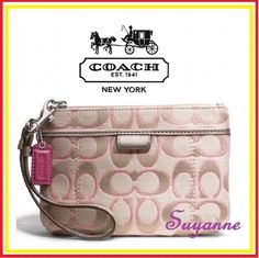 Coach Daisy Outline Signature Metallic Medium . Starting at $1 on Tophatter.com!