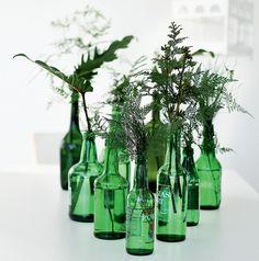 #decoração #casa #arranjo #flores #garrafa #verde #rendaportuguesa #melindro