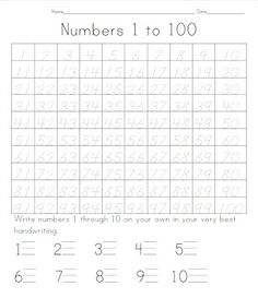 FREE tracing to 100