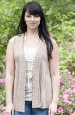 Amalfi Vest by Laura Matthews  Handknitting, Cascade Yarns, Ultra Pima Cotton