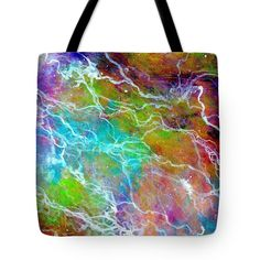 Abstract Art Tote Bag featuring the painting Stormy Night One by Clover Moon Designs Peggy Sowers-Heckman #FineArtAmerica