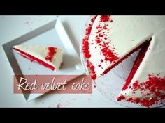 Red velvet cake - this recipe is for the classic cake with gorgeous red colour. Watch the video to see how it's done!