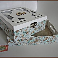 Amanda, Decorative Boxes, Scrap, Tea, Home Decor, Painted Boxes, Wooden Crafts, Decoupage Ideas, Trays