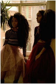 10 Sister Bloggers With Amazing Style You Need to Follow ASAP; Cipriana & TK Quann Quann Sisters, Curly Hair Styles, Natural Hair Styles, Texturizer On Natural Hair, Afro Punk, Curly Girl, Black Is Beautiful, Black Girl Magic, Her Style