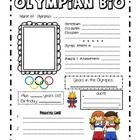 forkin4th: OLYMPICS inspired writing! Bring the excitement of the Olympics into your classroom with Olympian Bio Writing Posters! (perfect writing / computer lab tie-in activity during the first week of school)