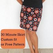 30 minute easy skirt pattern--I like this tutorial better than most others because it includes proper shaping between waist and hips, not just a tube. Easy Sewing Projects, Sewing Projects For Beginners, Sewing Hacks, Sewing Tutorials, Sewing Ideas, Sewing Patterns Free, Free Sewing, Clothing Patterns, Free Pattern
