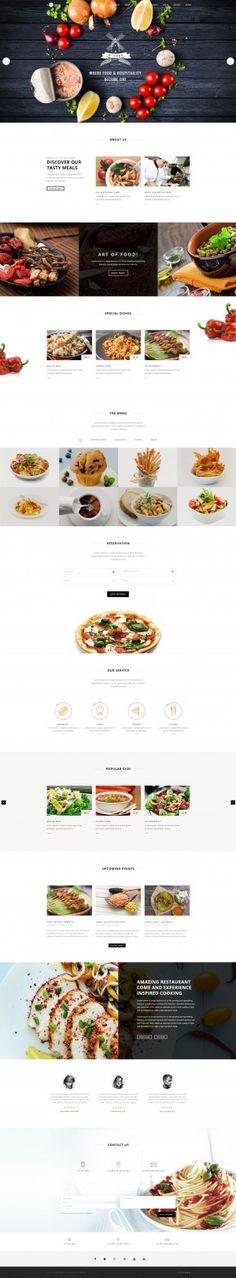 Saved onto Web Design Collection in Web Design Category Food Web Design, Site Web Design, Design Blog, Menu Design, Page Design, Layout Design, Flyer Design, Web Responsive, Ui Web