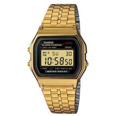 Casio Retro A159WGEA-1EF gouden horloge   http://www.kish.nl/Casio-A159WGEA-1EF-gouden/