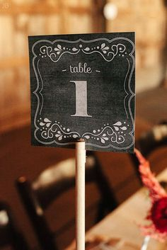 Chalkboard Table Numbers For Our Barn Wedding Diy With Printables And Dowel Rods