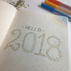 Bullet journal yearly cover page, dot art. | @amazinglymarvelous