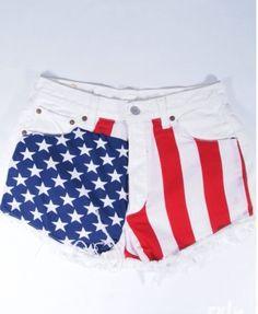 Cool american flag short