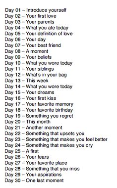 #30DaysList #JournalPrompts