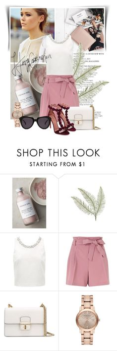 """La-la-la-love me, down, down"" by ninotchka-nb ❤ liked on Polyvore featuring Model Co, French Girl, Forever New, Miss Selfridge, Dolce&Gabbana, Burberry and Karen Walker"