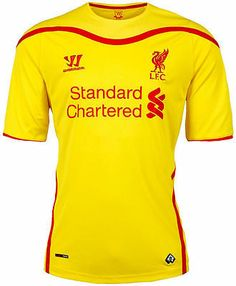 WARRIOR LIVERPOOL FC AWAY JERSEY 2014/15 FOOTBALL BARCLAYS PREMIER LEAGUE.