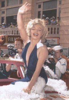 Marilyn Monroe - 2 September 1952 - leading the Miss America Parade in Atlantic City as Grand Marshall