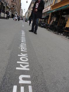 Street poetry, Stockholm