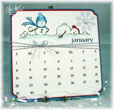 January Calendar by lakind - Cards and Paper Crafts at Splitcoaststampers