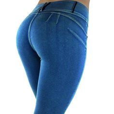 Women's Slim Fit Low Waist Denim Leggings-Jegging – PERKIN AVENUE With stretch fabric to form a smooth silhouette creating the perfect fit. Fine materials were used for ultimate comfort.