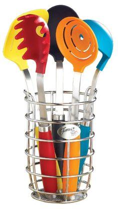 Amazon.com: Fiesta 6-Piece Utensil Set with Crock: Kitchen & Dining