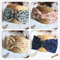 Boutique Korean Accessories Hair Accessories Manual Crystal Bead Fabric Bow Hairpin Issuing Top clip