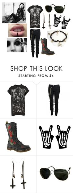 """New Age Punk"" by kgirl55 ❤ liked on Polyvore featuring Karl Lagerfeld, Dr. Martens, Vans, Alex and Chloe and POLICE"