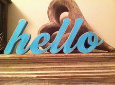 Handpainted Freestanding Script Letters  hello  by LoveLettersMe, £15.00