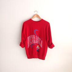 70s vintage Nebraska Cornhuskers Sweatshirt by louiseandco on Etsy, $45.00