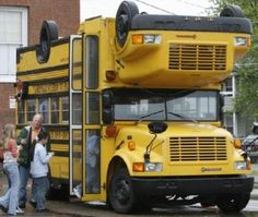 Imagine if this was the short bus. Bus. Hahaha. Admit it that was funny!  Wrong. But funny. -Dw