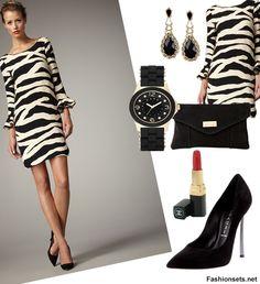 Fashion Sets For Zebra Print Dress