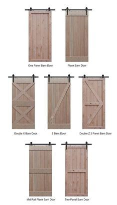 Knotty Alder Barn Door Styles