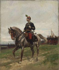 Home-defense hussar major  Artist:Jean-Baptiste Edouard Détaille (Paris 1848 – 1912 Paris) Szépművészeti Múzeum - Gyujtemenyi kereső angol - Artwork