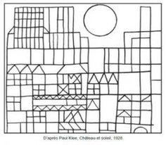 Paul Klee Cat Coloring Page Free Coloring Pages Of Klee School Coloring Pages, Cat Coloring Page, Colouring Pages, Free Coloring, Coloring Book, Line Art Lesson, Paul Klee Art, Art Handouts, Ecole Art